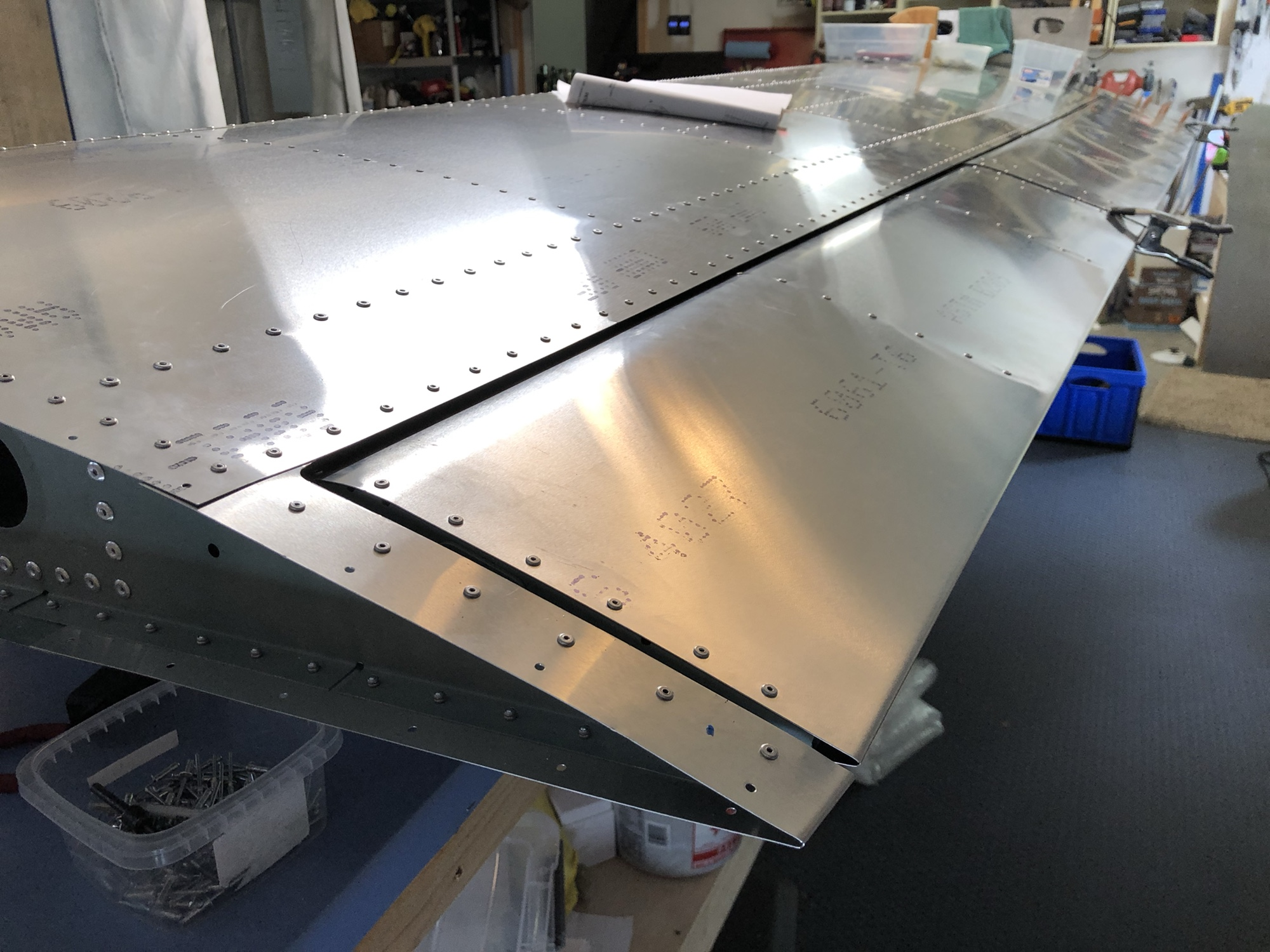 Finishing Aileron; Wing Step Skin Try 2